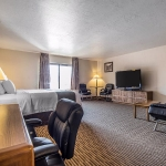 Spacious hotel suite